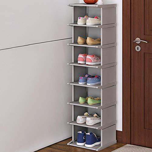 EUIWTUAJVN Zapato vertical y fácil montaje zapato O estante ahorro de espacio Conner armario titular zapatero gabinete de zapatos azul cielo