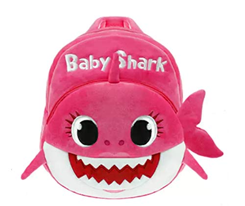 J&K Baby Shark Nursery School Bag for Kids Baby Shark Backpack Pink