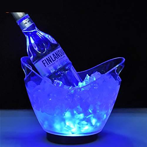 LANZHEN-RY Cubiteras para Hielo Resplanking Plástico Hielo Cubo De Hielo Transparente Colorido Led Bar Bar Restaurante con Barril De Bola De Hielo Barril Enfriador Cerveza