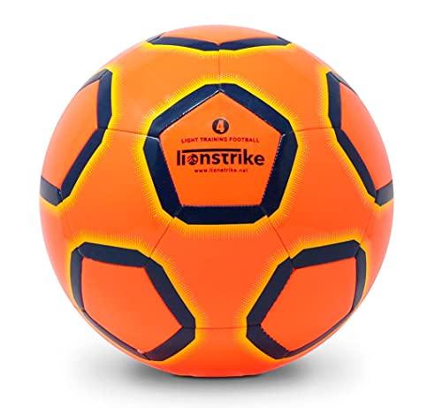 Lionstrike Größe 4 Lite Fussball - Leichter Trainingsfussball für Jungen/Mädchen im Alter von 7 bis 13 Jahren