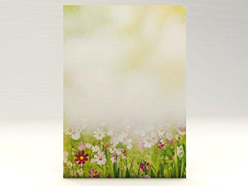 Motivpapier Sommerwiese, 20 Blatt Motivpapier DIN A4, 90g/qm