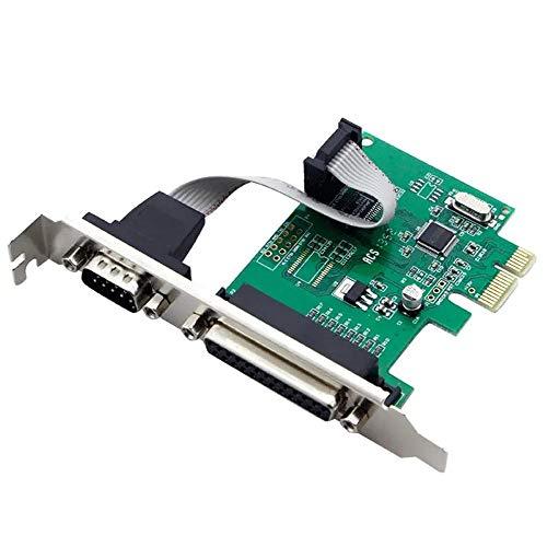 QiHaoHeji Pci Express Expansion Card LPT-kaart seriële poort parallelle poort uitbreidingskaart PCI-E Transfer Printer Card Tax Control Card