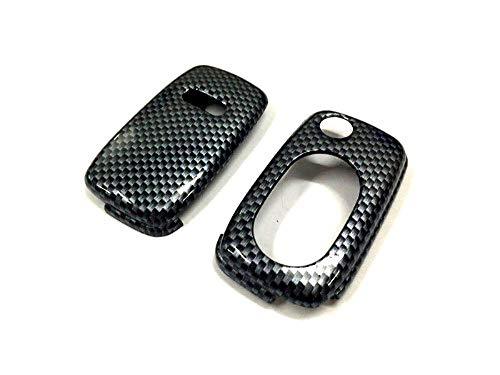 LINGZIA Estuche de protección de Llave remota, Llave Plegable de Color de impresión de Fibra de Carbono Brillante Brillante, para Audi A3 8L / A4 B5 / A4 B6 / TT MK1 / A6 C5, A