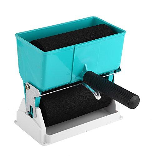 Fdit Tragbarer manueller justierbarer Kleber Applikator mit 2 Rollen Hand energiesparendem Kleber für hölzerne DIY Beschichtung Arbeiten (6