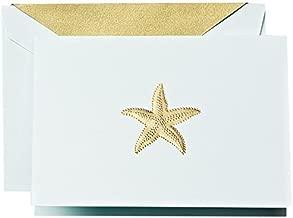 Crane & Co. Hand Engraved Starfish Note (RF1410)