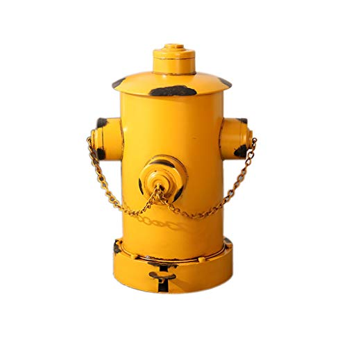 HJHJ Müllbehälter Garbage Trunk Bar Trash Can Hydrant Form Restaurant Cafe Dekorative Trash Can Art Pedal Typ Trash Can Vintage-Ornamente Abfalleimer (Color : Yellow)