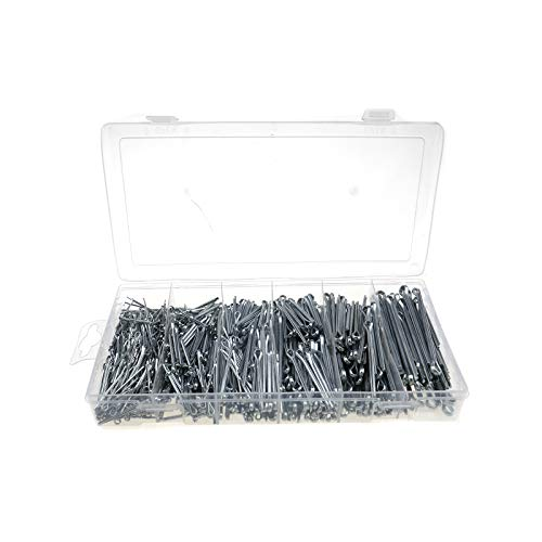 Create Idea 1000 x Splint-Stifte für Garagen-Verschlüsse, Sortiment von Befestigungen, in 6 Größen