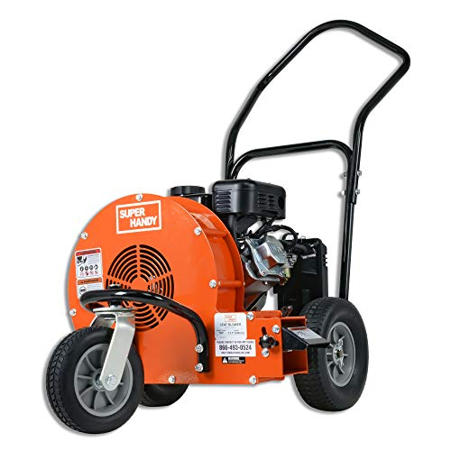 SuperHandy Leaf Blower Ultra Duty Wheeled Walk Behind Jet Sweep Manual-Propelled Powerful 7HP 212cc 4 Stroke OHV Motor Output Wind Force of 200 MPH / 2000 CFM at 3600RPM for Construction Garden & Lawn