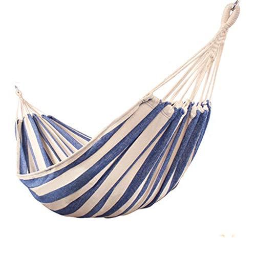 L.J.JZDY Piscine Seule Personne Toile Hamac Camping Fauteuil Suspendu Chambre Meubles for Enfants Chaise Balancez Bleu Blanc 230 * 80cm (Color : C, Size : 1)
