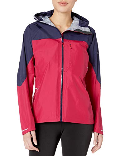 Berghaus Mujeres del Vapor Storm Shell Chaqueta, Mujer, Color Dark Cerise/Evening Blue, tamaño 42