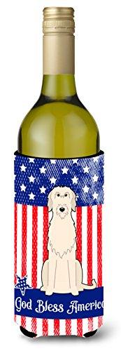 Caroline tesoros del bb3060literk patriótica Estados Unidos Wolfhound irlandés vino botella aislante beverge Hugger, para botella de vino, multicolor
