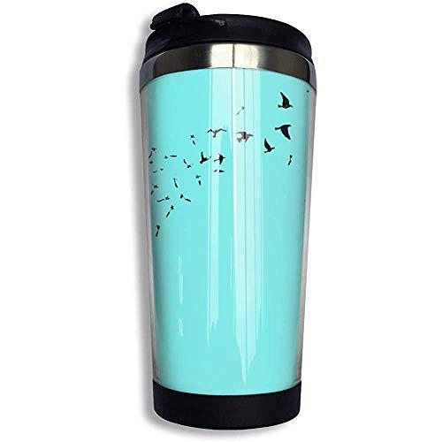 Kaffee Reisebecher Löwenzahn Clip Art Auto Becher Tasse Eistee oder Wasserflasche Isolierte Thermotasse Edelstahl
