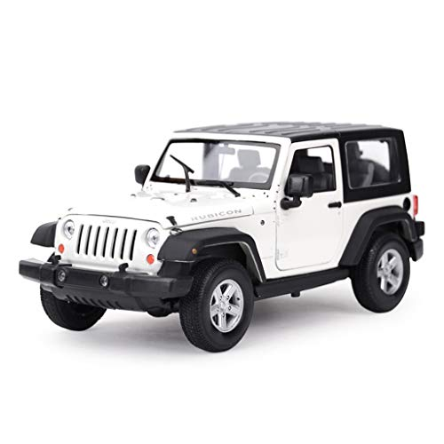 JXXDDQ Car Model Car 1:24JEEP Wrangler Robin Hood Simulation Alloy Die-casting Toy Ornaments Sports Car Collection Jewelry 17.5x8x7.5CM (Color : White - hard top)