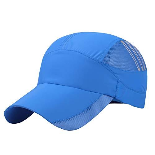 AIEOE Damen Kappe Basecap für Outdoor Wandern Joggen Snapback Cap - Königblau