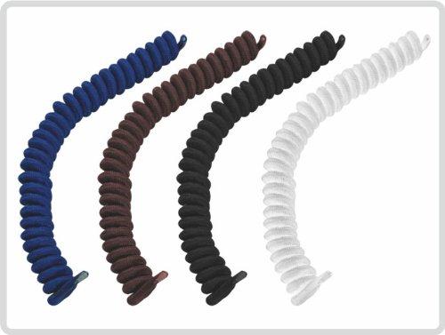 Schnürsenkel elastische spiralenförmig 1 Paar *weiß, blau, schwarz und braun* (schwarz)