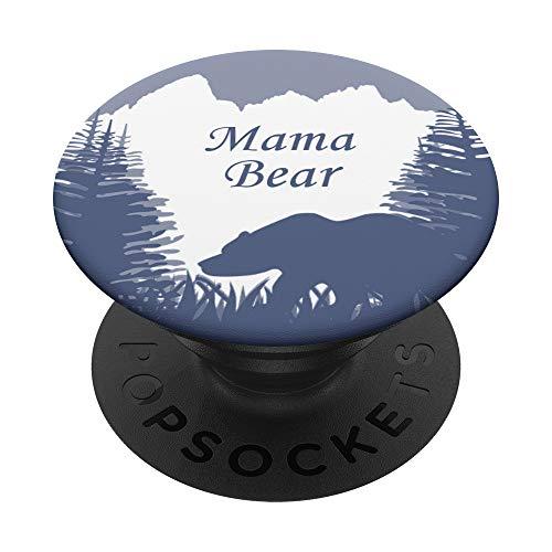 Cell Phone Pop Out Holder,White Mountains Design Mama Bear PopSockets PopGrip: Agarre intercambiable para Teléfonos y Tabletas