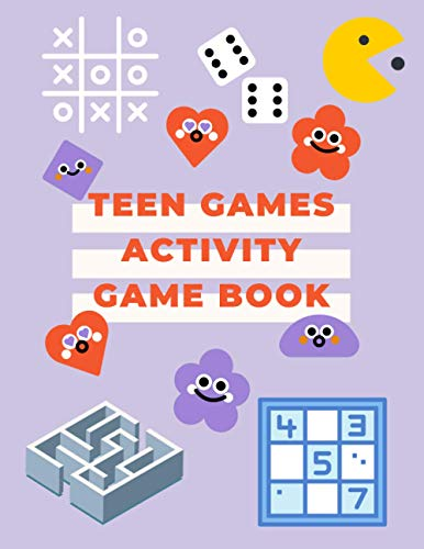 Teen Games Activity Game Book: Mazes, Cryptogram, Word Scrambles, Word Searches, Sudoku, tic tac toe, Fun 4 in Row Game, Fun Dot Games