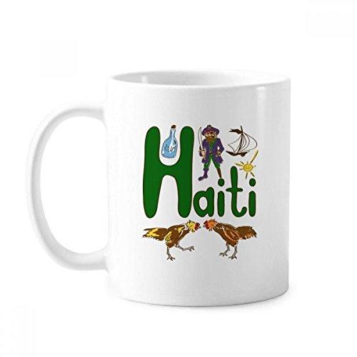 Haiti National Symbol Landmark Muster Tasse Keramik Kaffee Porzellan Tasse Geschirr