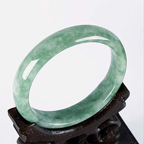 Sooiy El Color Verde Esmeralda de Jade Pulsera de la señora Regalo Ligero aleteo Verde Turquesa Pulsera de Jade Pulsera de la señora 2019,60mm