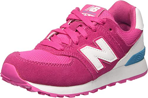 New Balance Unisex-Kinder 574 High Visibility Sneakers, Pink, 38 EU
