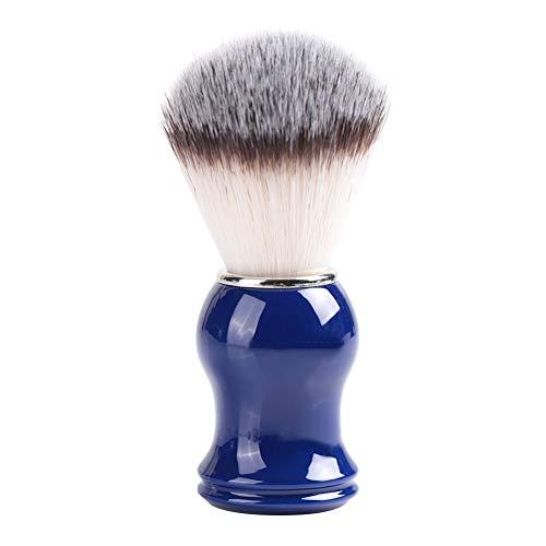 Brocha de Afeitar Tejida a Mano Original Badger Con Mango de Cromo, Diseñada Para Afeitarse la Barba de Los Hombres de Seguridad, Afeitadora Profesional de Afeitar Herramienta de Peluquería(Blue)