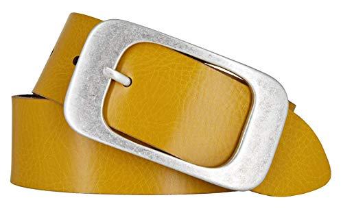 Bernd Götz Damen Leder Gürtel 40 mm ocker Nappaleder kürzbar Damengürtel Ledergürtel (95)