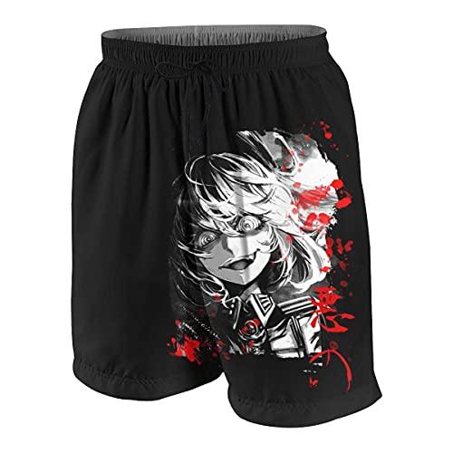 Pantalones Cortos Shorts de Playa para niños y niñas Adolescentes Anime Youjo Senki Tanya Pantalones Cortos de Secado rápido de Ocio Deportivo de bañadores de Verano