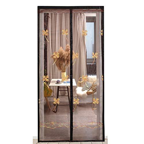 Estate tenda della porta magnetica zanzara partizione porta sullo schermo la prova Camera finestra a schermo Encryption drappeggia per lo Studio vivere balcone della camera,Four leaf clover,90×200cm