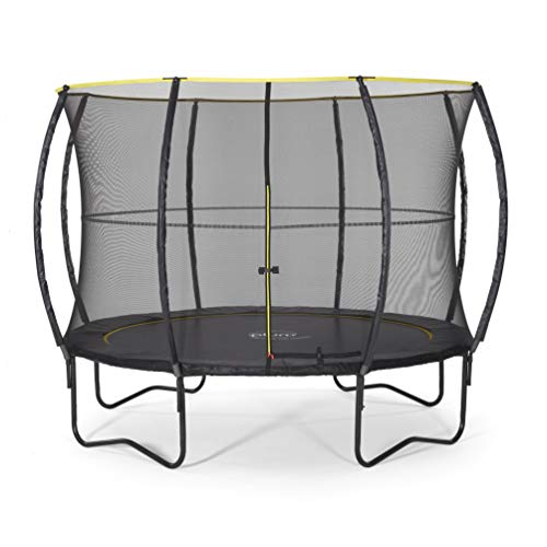 Plum Unisex-Youth 30375 10 ft Premium Spec Trampoline No Springs Tech with Enclosure, Black, Foot