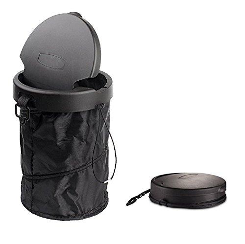 Auto-faltender Mülleimer, tragbarer Abfalleimer für Fahrzeug, universeller reisender zusammenklappbarer Pop-up Abfalleimer mit Abdeckung