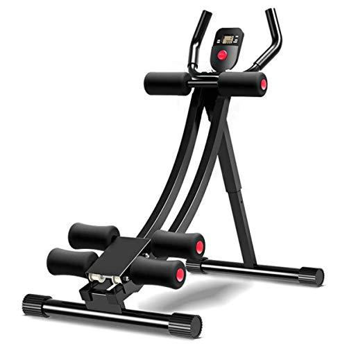 GJNWRQCY Üben Sie Bauchmuskelgeräte, Faule Sport- und Fitnessgeräte, Bauchmuskeltraining, Fitness-Trainer mit 3 Schwierigkeitsstufen - Bauchbank - Faltbar