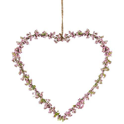 matches21 Gypsophila Cuore Fiore Decorazione Cuore Decorazione Finestra Rosa Decorazione Primaverile Appendiabiti 1 pz 16x16 cm