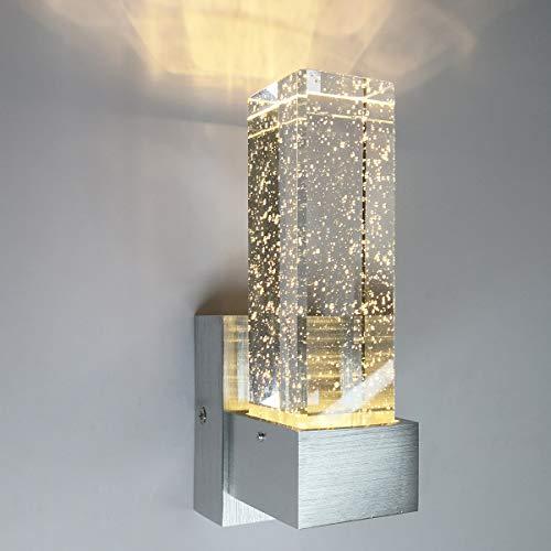 Bubble-Kristallwand-Lampen, LED-Nachttischlampe, Aisle Korridor Restaurant Raum Bar KTV Wand-Lampe, Weißes Licht/Warmes Licht,Warm light
