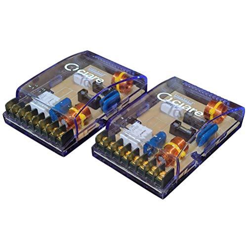 2 CIARE CF231 passiva delningsfilter 4 ohm 200 watt rms bilbenägenhet för 2-vägs system woofer tweeter dörrar dörrar splitterdörrar, ett par