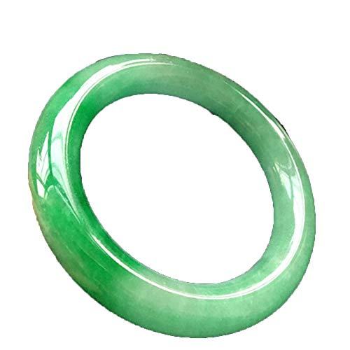 ZHIBO Hielo Natural de Birmania Jade Pulseras Ronda Yang Femeninos Modelos Verde Esmeralda Jade Pulsera Pulsera de la Pulsera Verde del Jade Verde