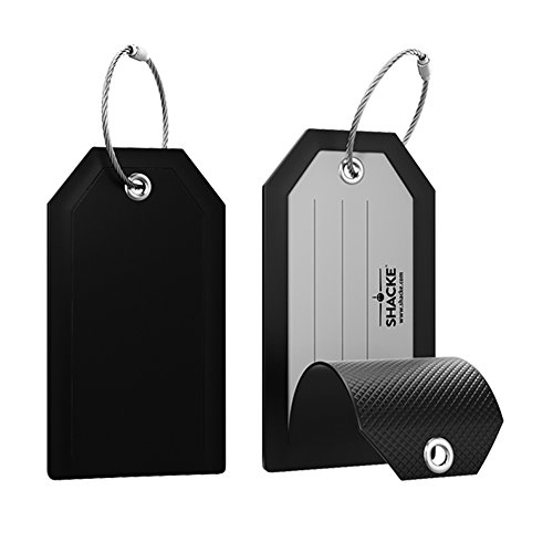 Mini Privacy Luggage Tags 2pack (Black)