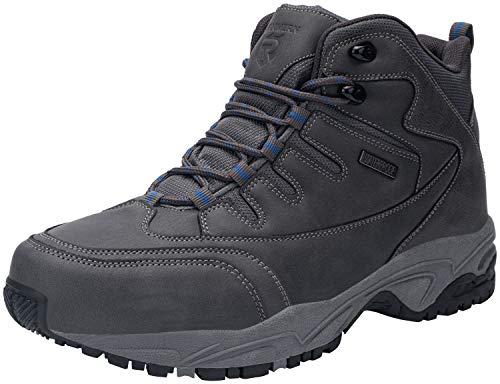 Kefuwu Zapatillas de Trekking para Hombres Zapatillas de Senderismo Botas de Montaña Antideslizantes AL Aire Libre Zapatillas de Camping Zapatillas de Deporte Senderismo Esquiar Caminando(Gris 43)