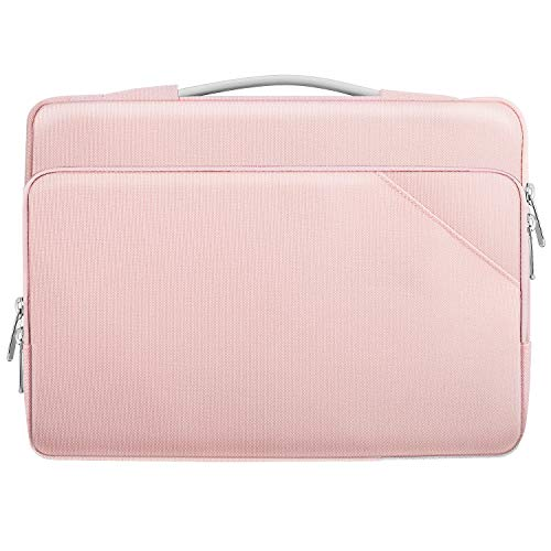 "MoKo Laptophülle Kompatibel mit Acer HP Dell Chromebook 14, ThinkPad X1 14"", ThinkPad P14s 14"", ZenBook Flip 14, Surface Book 15"", MacBook Pro 16"" 2019, 900D Polyester Laptoptasche, Rosa"