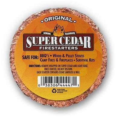 Super Cedar Firestarters - 36 pastillas encienden hasta 144 fuegos. Las pastillas...