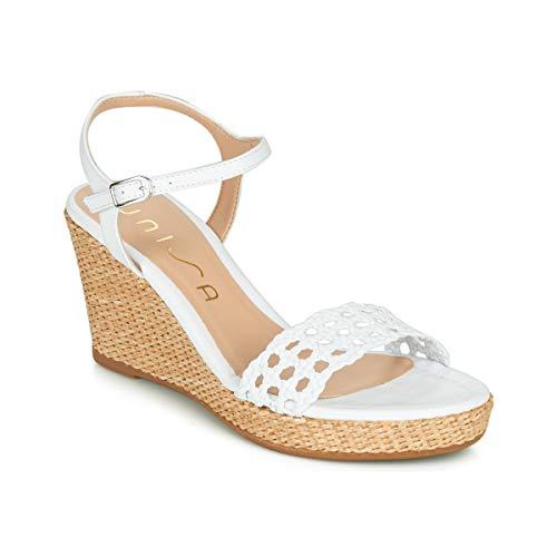 Unisa Lobi Sandalen/Sandaletten Damen Weiss - 37 - Sandalen/Sandaletten Shoes