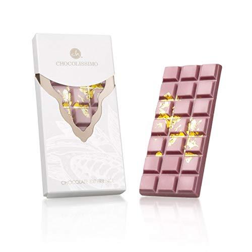 Ruby Experience-Gold - Tafel Schokolade aus feinster Ruby-Kakaobohne | Weltneuheit | Rosa Schokolade | Geschenkidee | Premium Qualität | Nach schwarz, braun und weiß kommt rosarot Schoko