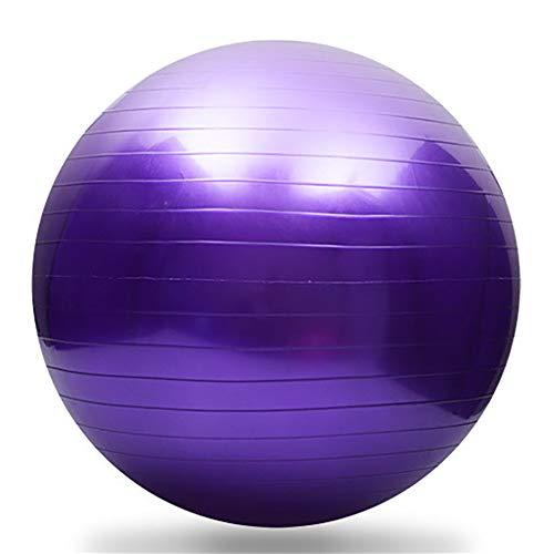XIAMIMI Gymnastikball (mehrfache Farben, 95cm Durchmesser), Yoga Ball, Lieferung Kugel mit Fast-Pumpe, Anti-Explosion und extra dick,Lila