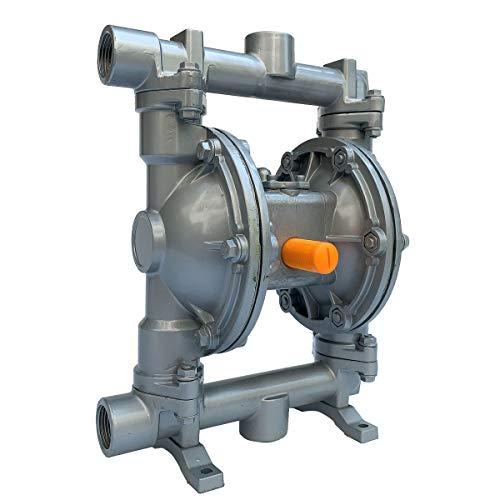 Cozyel Air-Operated Diaphragm Pump Double Diaphragm Pump 1 inch Inlet & Outlet, Air Diaphragm Pump Dual Diaphragm Air Pump Aluminum 22 GPM Max 100PSI, QBY3-25AL