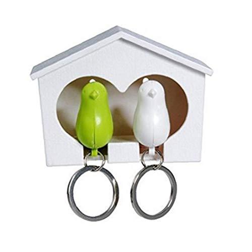 OMMO LEBEINDR Duo gorrión de casa del pájaro y llaveros (GW) por Conveniencia