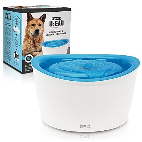 Zeus Trinkbrunnen für Hunde, weiß/blau, 6L