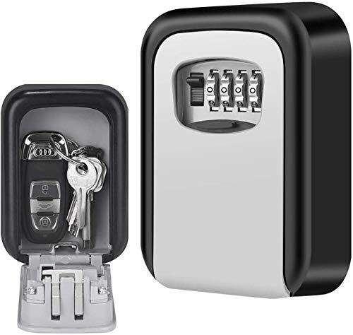 Schlüsseltresor Wandmontage,Schlüsselsafe,Schlüsselkasten mit Zahlencode Tresor mit Zahlenschloss Sichere Methode zum Teilen von Schlüsseln für Haus Garagen Schule Schlüssel (Silber)