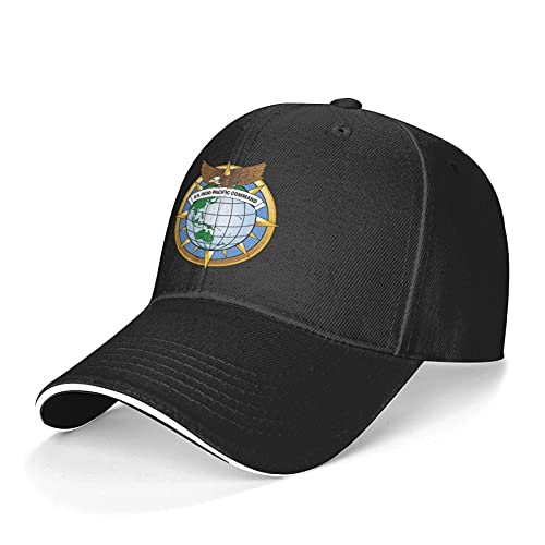 US Army Indo-Pacific Command Sandwich Baseball Hats for Men Women Trucker Dad Adjustable Snapback Black