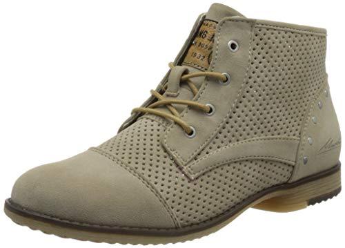 Mustang Damen 1382-502 Mode-Stiefel, beige, 39 EU