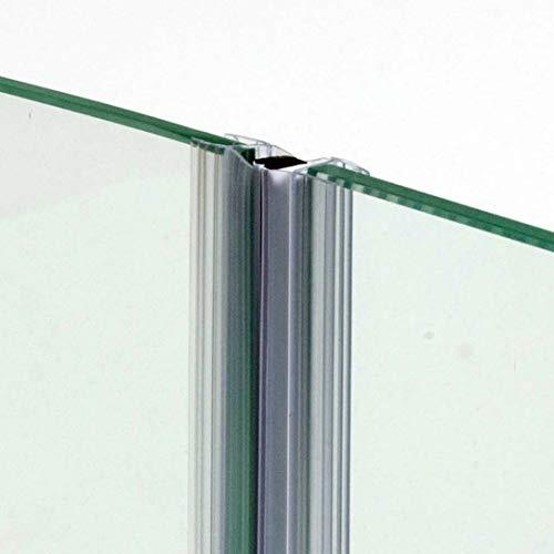 220cm - COPPIA di guarnizione magnetica/calamita IN LINEA per box doccia con due ante scorrevoli per VETRO 6mm-GMVL6/8