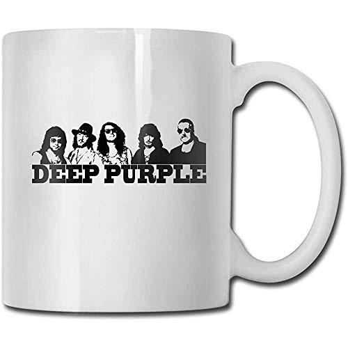 Tazas Deep Purple Handmade Design Fashion Coffee Mug Tee Cup Gift para Fans Marido Esposa Novia Blanco